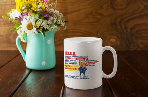 Donald Trump Parody Coffee Cup, Trump 2020 Personalized Coffee Mug, 11oz Personalized Funny Trump Mug, Political Humor Mug, Trump Boyfriend Mug