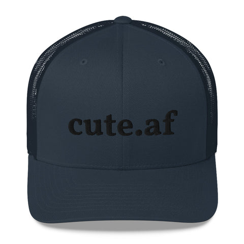 cute.af - Trucker Cap Various Colors With Black Embroidery