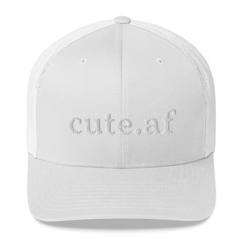 cute.af Trucker Cap - Various Colors White Embroidery