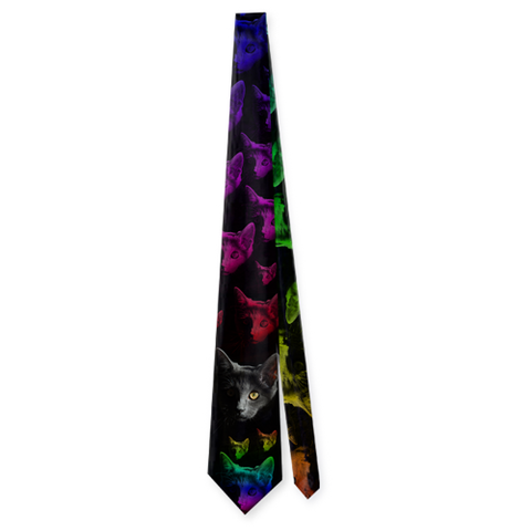 Cats Faces, Sublimation Neckties, slingly, FamilyTrophy.com - FamilyTrophy.com