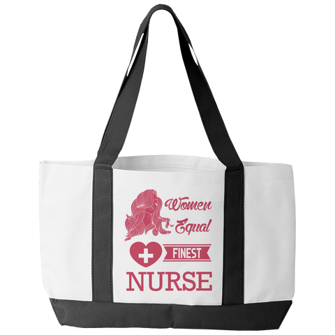 Limited Edition - All Women Are Created Equal But The Finest Become A Nurse, Tote Bags, slingly, FamilyTrophy.com - FamilyTrophy.com