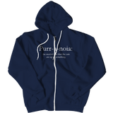 Limited Edition - Purr-a-noia: The Morbid Fear That The Cats Are Up To Something, Zipper Hoodie, slingly, FamilyTrophy.com - FamilyTrophy.com