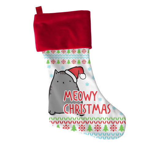 *Attention Cat Moms* Turn your Holiday Stockings into a Piece of Purrrfect Cat Art - Meowy Xmas Christmas Stocking Gift, Stockings, slingly, FamilyTrophy.com - FamilyTrophy.com