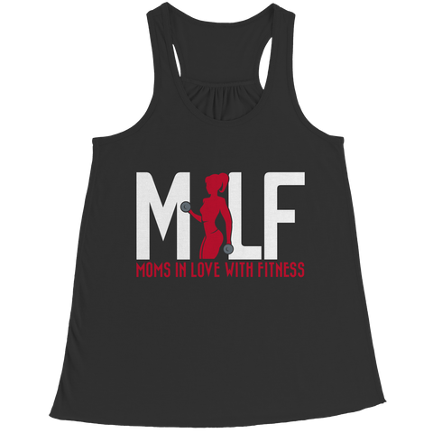 MILF Moms In Love With Fitness, Bella Flowy Racerback Tank, slingly, FamilyTrophy.com - FamilyTrophy.com