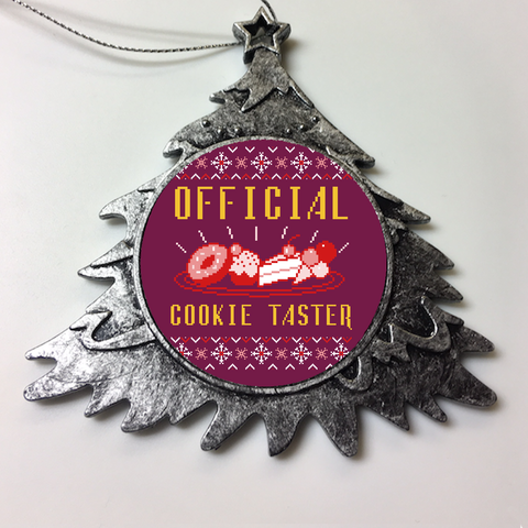 Ugly Tshirt Christmas Ornaments  - Official Cookie Taster Christmas Ornament Holiday Gift