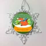 Snowball Christmas Ornament - Wonderful Time Fox Ornament For Children
