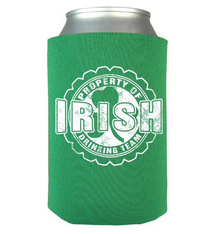 Property Of Irish Drinking Team Can Koozie, Can Wrap, Trexify, FamilyTrophy.com - FamilyTrophy.com