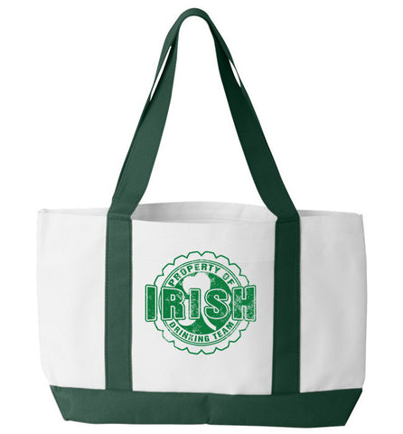 Property of Irish Drinking Team Tote Bag, Tote Bag, Trexify, FamilyTrophy.com - FamilyTrophy.com