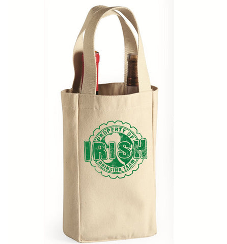 Property Of Irish Drinking Team Wine Bag, Wine Bag, Trexify, FamilyTrophy.com - FamilyTrophy.com
