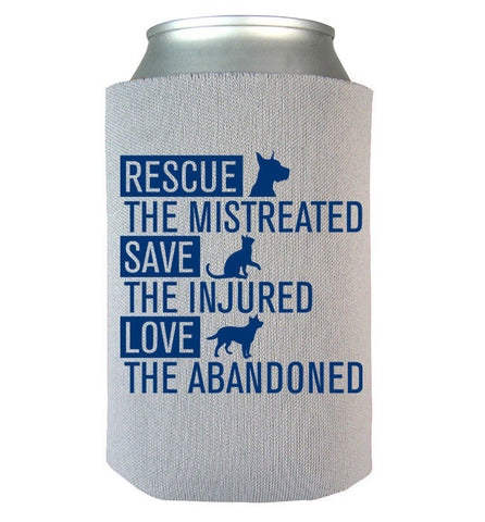 Rescue Animals Can Koozie, Can Wrap, Trexify, FamilyTrophy.com - FamilyTrophy.com