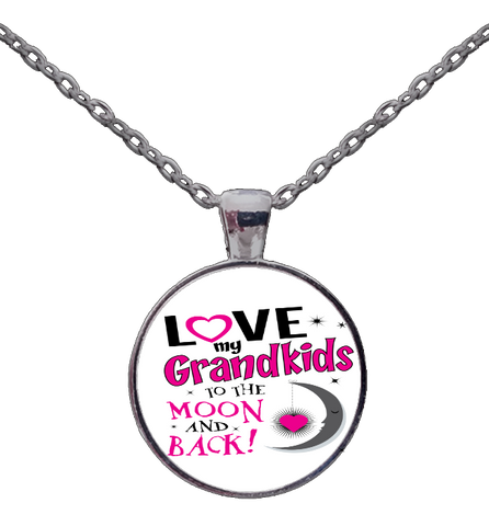 Moon And Back Necklace, Jewelry, Trexify, FamilyTrophy.com - FamilyTrophy.com