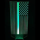 Blue Line Flag 2, LED Lamps, slingly, FamilyTrophy.com - FamilyTrophy.com