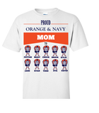 Proud Orange Navy Football Mom Personalized Apparel - Great Gift For Fans, Apparel, Trexify, FamilyTrophy.com - FamilyTrophy.com