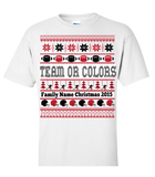 Merry Christmas Personalized Team Or Colors - Personalized Family Name Christmas 2015 - Perfect Christmas 2015 Gift For Football Enthusiasts, Apparel, Trexify, FamilyTrophy.com - FamilyTrophy.com
