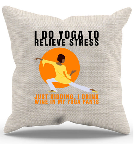 Yoga Wine Pillow Case, Pillow Case, Trexify, FamilyTrophy.com - FamilyTrophy.com