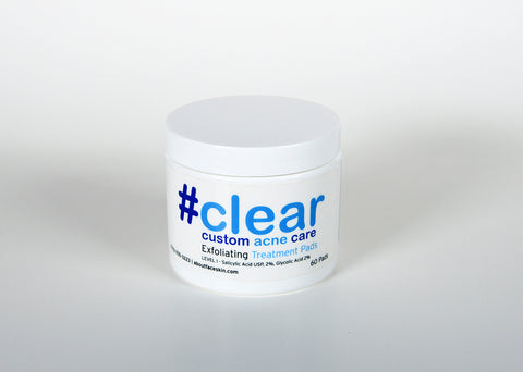 #clear Exfoliating Treatment Pads