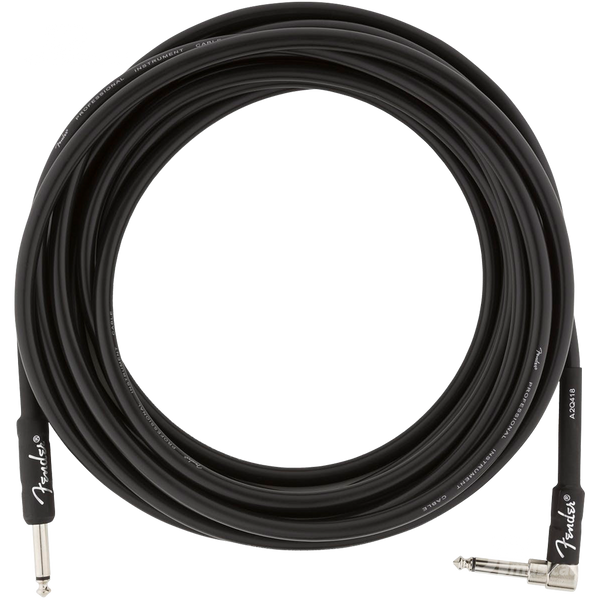 CABLE FENDER 0990820019 PRO 18.6 ANG INST CBL BLK - JP Musical