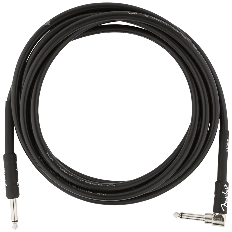 CABLE FENDER 0990820025 PRO 10 ANGL INST CABLE BLK - JP Musical
