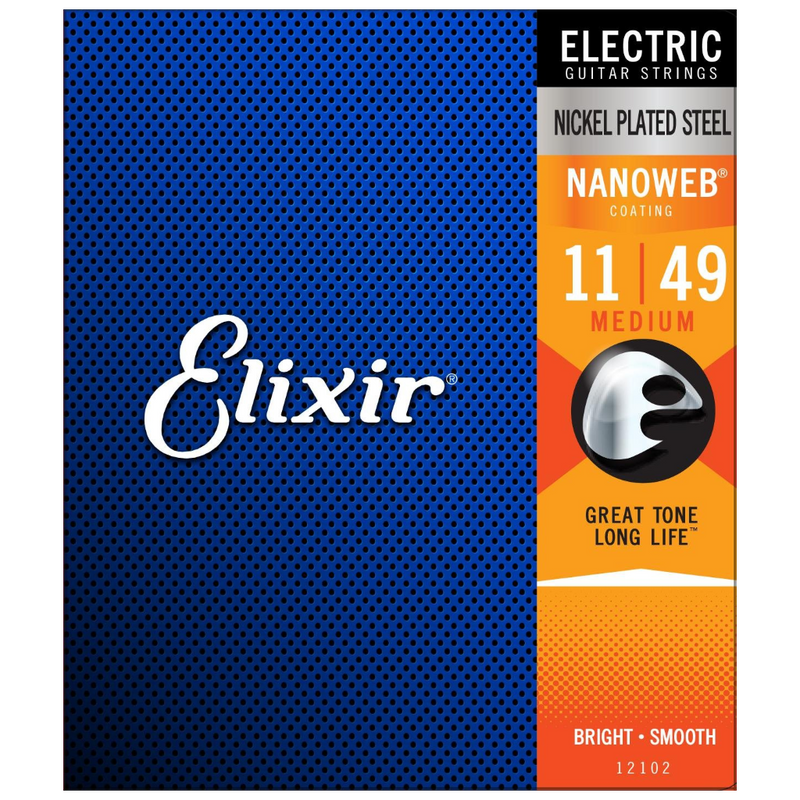 ENCORDADURA ELIXIR 12102 ELECTRIC NANOWEBCOATING MEDIUM - JP Musical