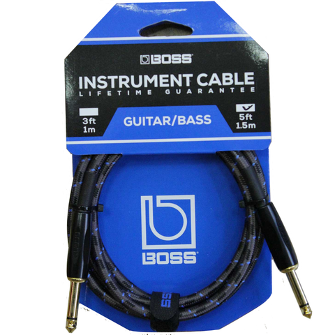 CABLE BOSS BIC5 5FT INST, STRT/STRT 1/4 JACK
