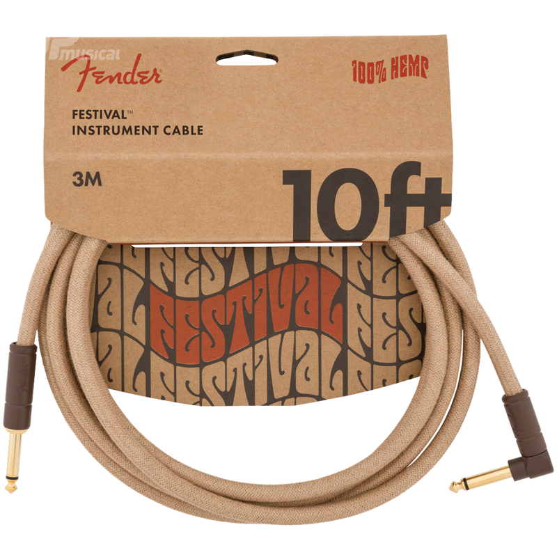 CABLE FENDER 0990910021 10 ANG CABLE PURE HEMP NAT - JP Musical
