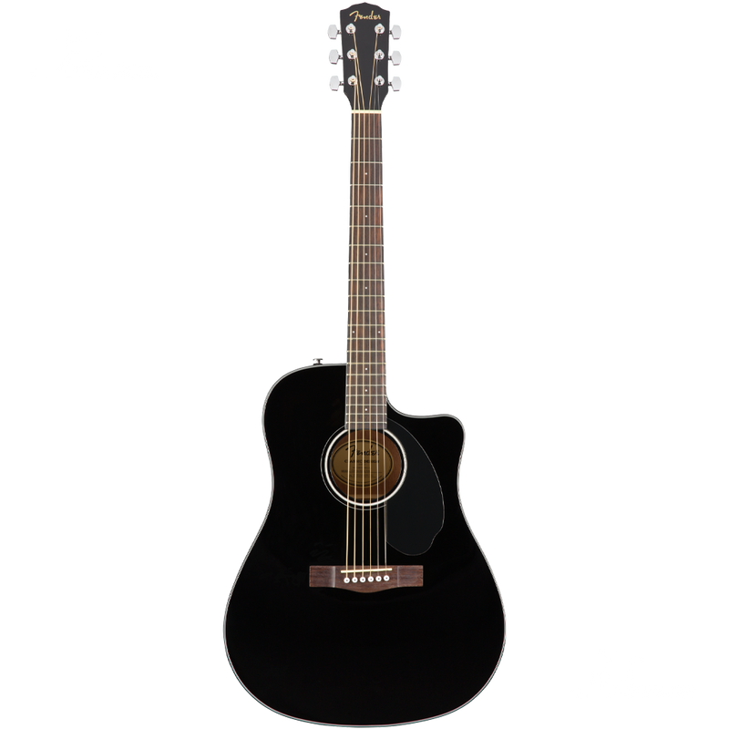 GUITARRA ELECTROACUSTICA FENDER 0970113006 CD60SCE DREAD BLACK WN - JP Musical