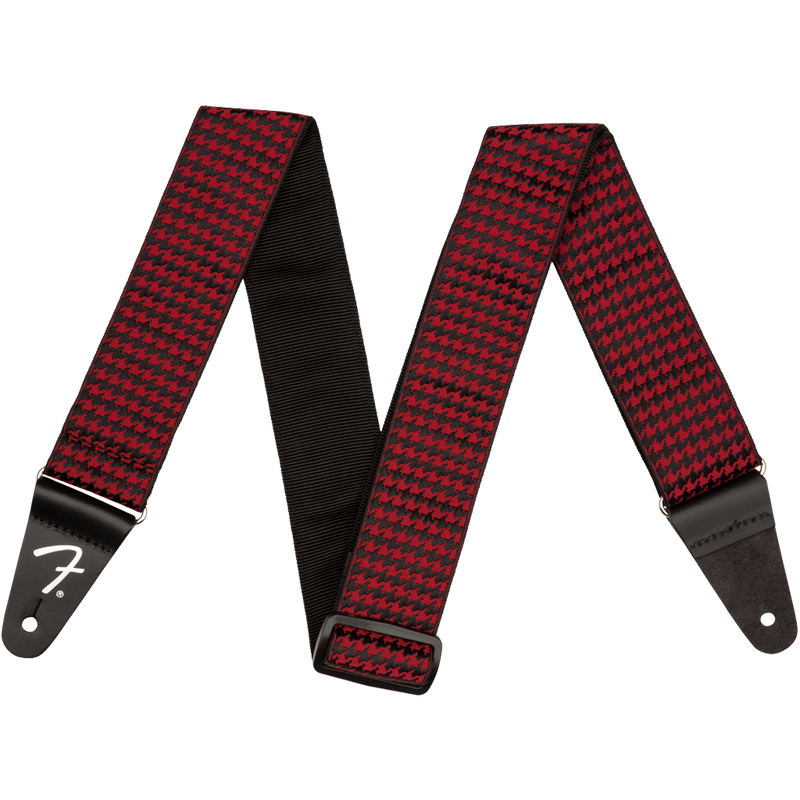 TAHALI FENDER 0990709009 HOUNDSTOOTH STRAP RED - JP Musical