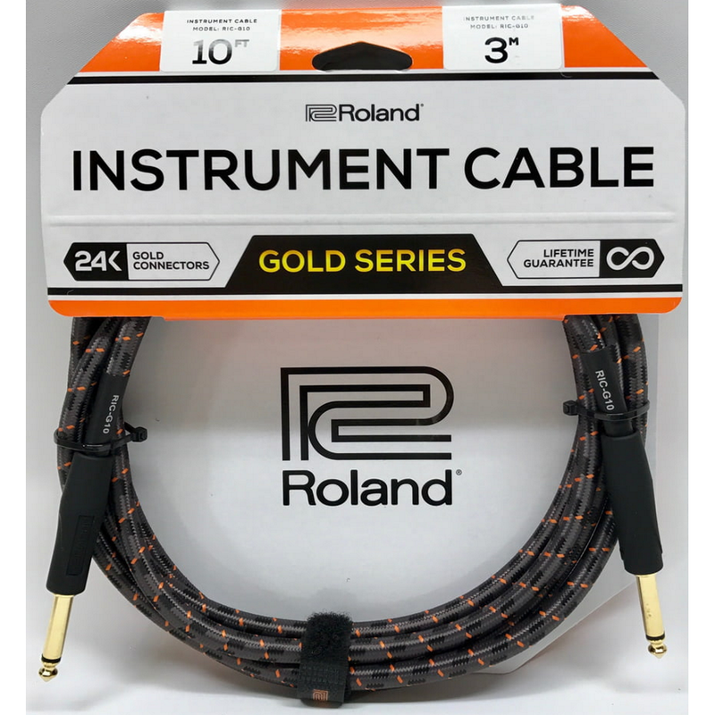 CABLE ROLAND RICG10 10FT INST STRT/STRT 1/4 JACK - JP Musical