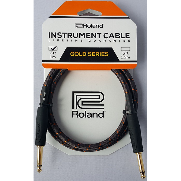 CABLE ROLAND RICG3 3FT INST STRT/STRT 1/4 JACK