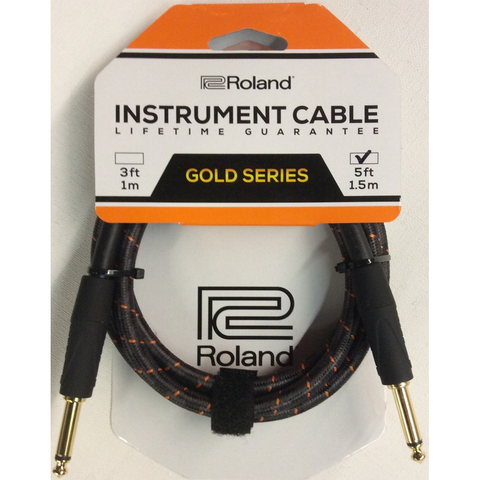 CABLE ROLAND RICG5 5FT INST STRT/STRT 1/4 - JP Musical