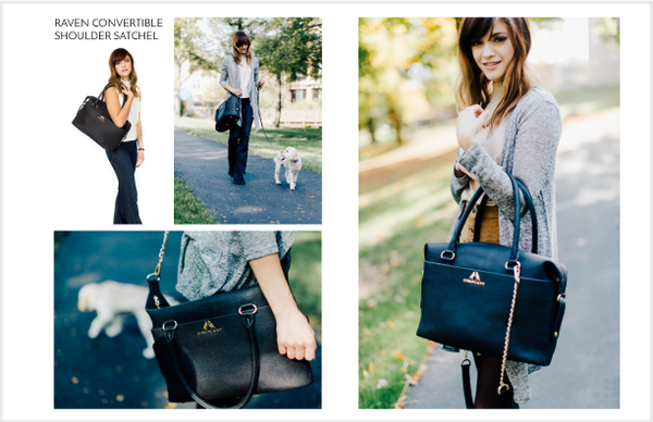 Starling & Ivy Lookbook Page 5 Satchel