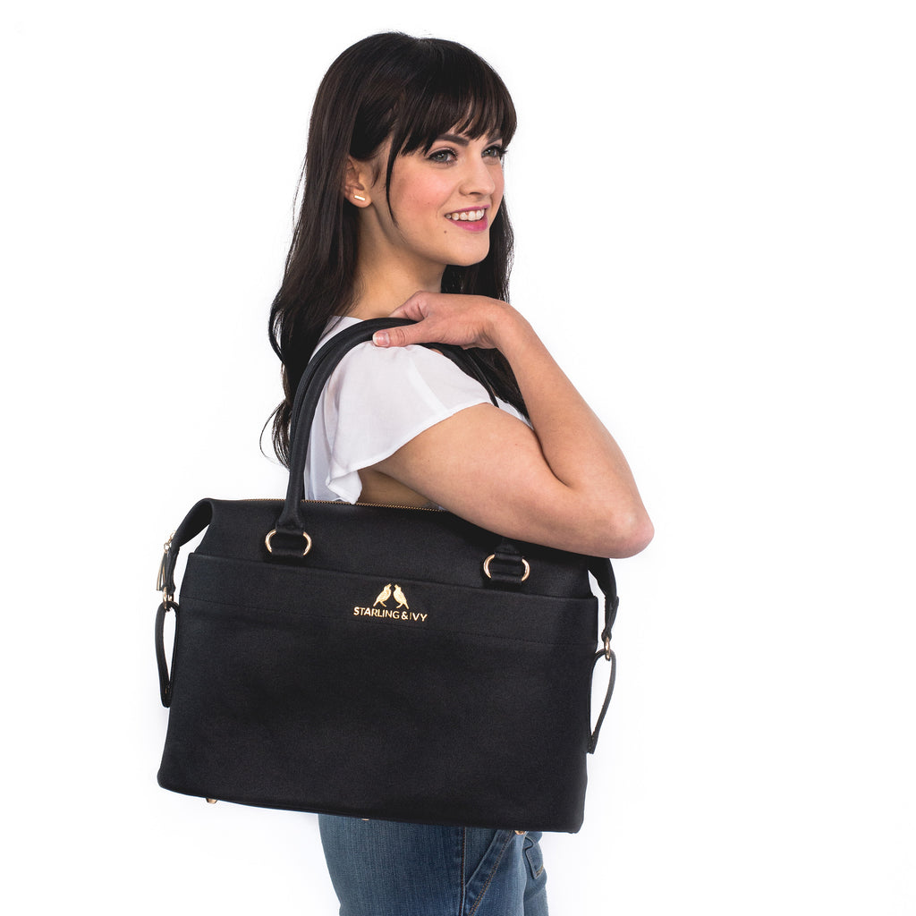 NEW Raven Convertible Satchel with Travel Strap
