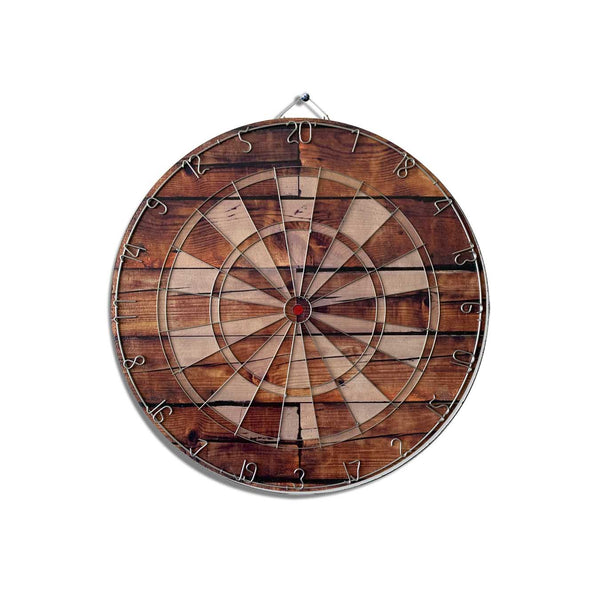 Brown Wooden Dart Board