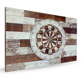 White Rustic Dartboard &  Backboard