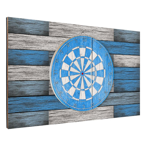 Blue Wood Plank Backboard Combo