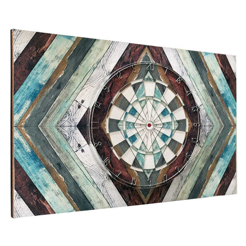 Rustic Diamond Planked Dartboard & Backboard