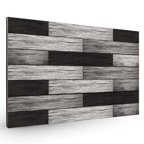 Black Wood Planks Backboard