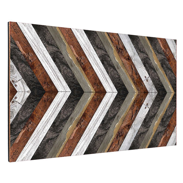 Black, White and Brown Angle Planks Backboard