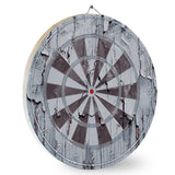 Gray Wooden Dart Board