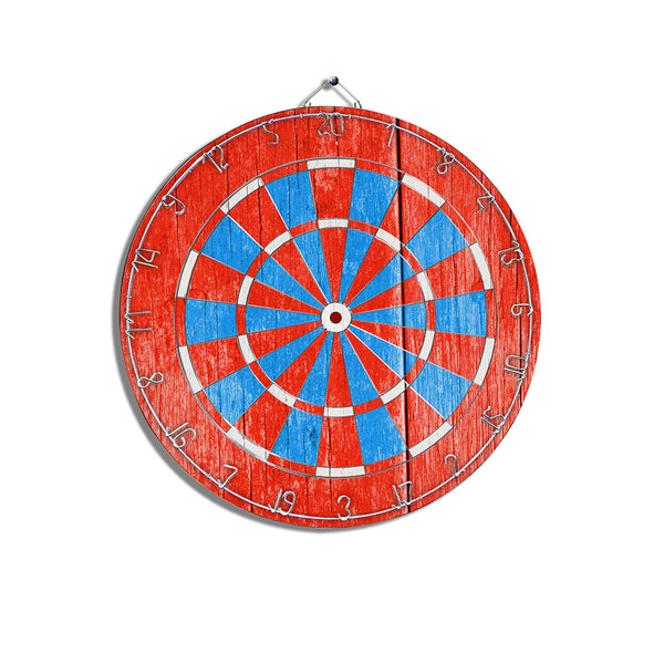 Red White & Blue Dart Board