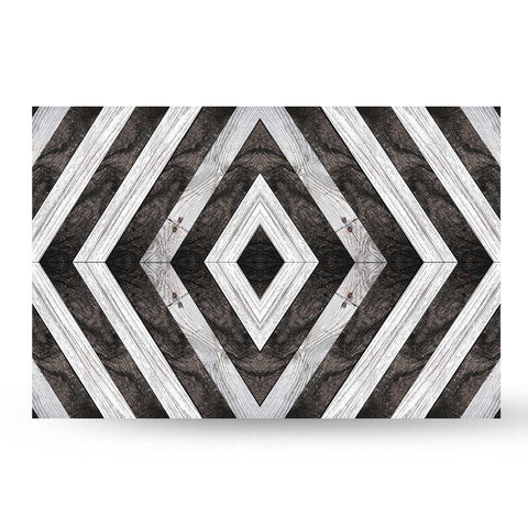 Black and White Diamond Plank Backboard