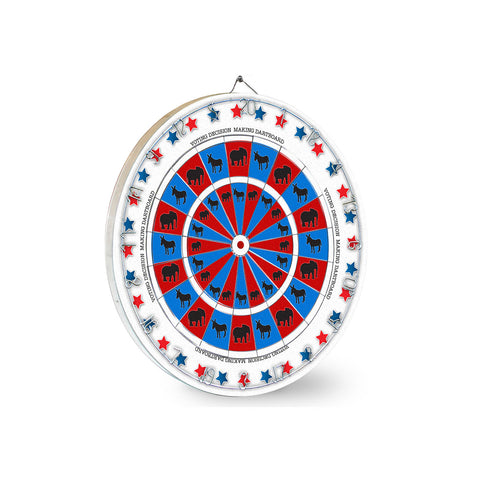 Voting Decisions Dart Board