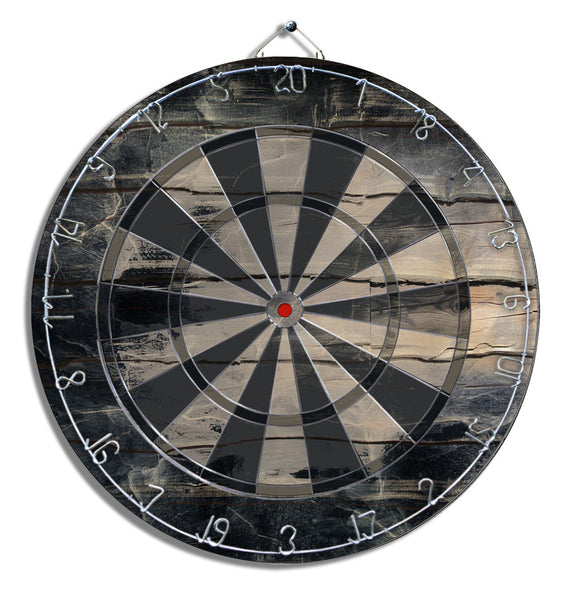 Black Wooden Dart Board