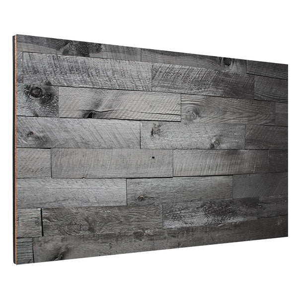 Gray Wood Plank Backboard