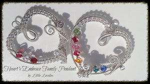 Hearts Embrace Family Pendant