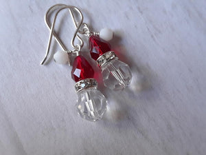 Santa Christmas Earrings