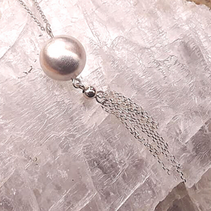 Frosted Ball Tassel Necklace