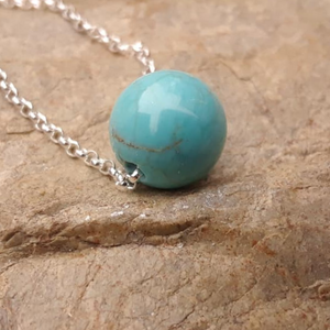 Turquoise Howlite Intention Necklace