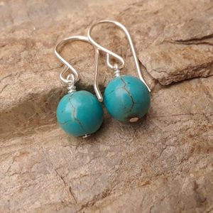 Turquoise Howlite Intention Earrings