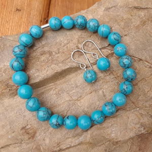 Turquoise Howlite Intention Bracelet